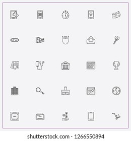 icon set about business with keywords insurance contract, dice and earnings