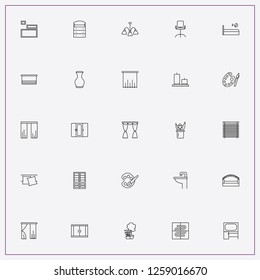 icon set about decor with keywords wash basin, curtains and warm floor