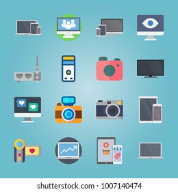 Icon set about Devices. with tablet, phone and notebook