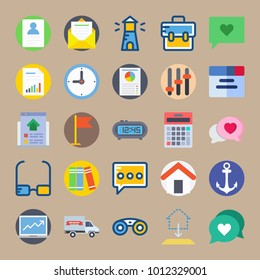 icon set about Digital Marketing with chat, email, calculator, library and analytics