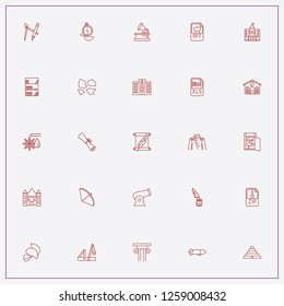 icon set about history with keywords municipality house, warrior helmet and hatch door