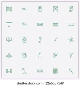 icon set about home with keywords eletric train, curtains and pet bowl for feed