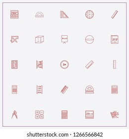 icon set about mathematics with keywords calculating button, calculator and mathematics rulers