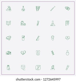 icon set about medicine with keywords nurse, chemical flask and halloween flask