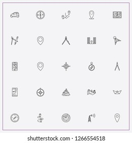 icon set about navigation with keywords compass, phone map and mobile tracking location