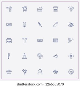 icon set about service with keywords battery, boiler and mechanic