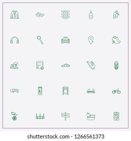 icon set about street with keywords street singboard, police car and car