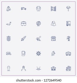 icon set about travel with keywords photo camera, camping tent and location