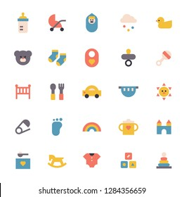 Icon set of baby items simple style. flat design vector graphic style concept illustration.
