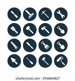 icon set for buildings and architects