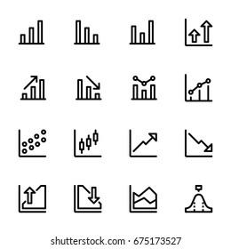 Icon set of chart