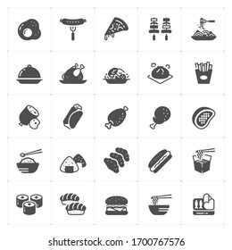 Icon set - Food icon vector illustration on white background