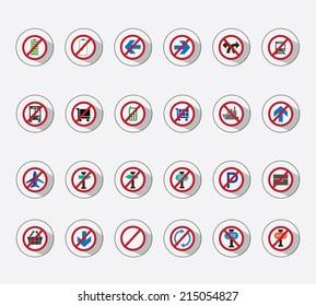 icon set - forbidden