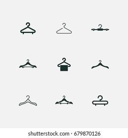 icon set of hanger