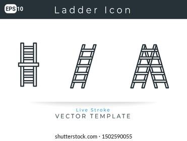 Icon Set Ladder For Website, Infographic Element. Vector Illustration