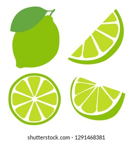 icon set lime, vector illustration