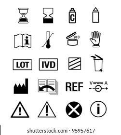 icon set for medical manual