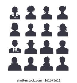 Icon set of people avatars