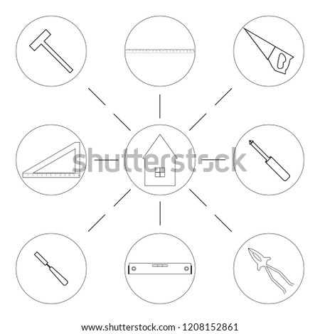 Icon Set Related Construction Stock Vector Royalty Free 1208152861