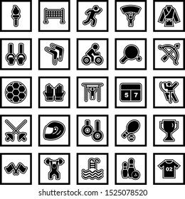 Icon set of sports and games for personal and commercial use...