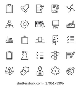 Icon set of start up. Editable vector pictograms isolated on a white background. Trendy outline symbols for mobile apps and website design. Premium pack of icons in trendy line style.