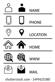 Icon set web mobile email location address Website icon set for computers and mobile