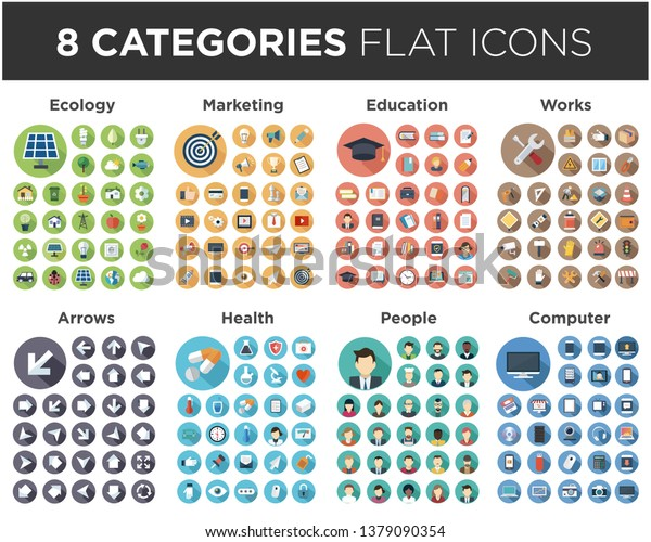 icon set for websites and mobile applications. Flat vector