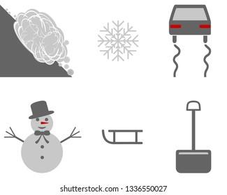 Icon set winter season