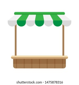 icon shop store green awning roof, mini market store shop wooden with awnings, template symbol shop online, clip art flat wood grocery facade for online shopping, illustration shop front infographics