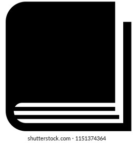 The icon shows a thick closed book. Pixel precise design, line icon. Suitable for all devices, SEO, SMM, UX. Perfect for use in presentations, analytical reports, branding and many other