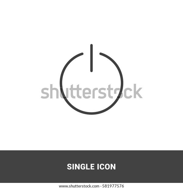 icon shutdown symbol single icon graphic design