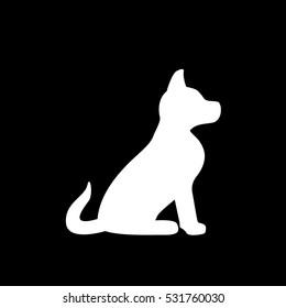 icon sitting dog