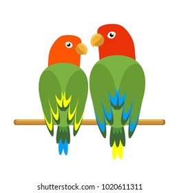 Icon Of A Sitting Parrot Tropical Bird Simple Parrot Clipart Modern Vector Illustration