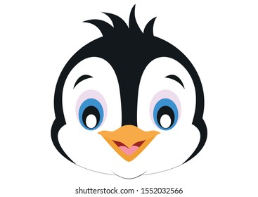 Icon of Smile Penguin Face. Animals. Vector of Penguin Face