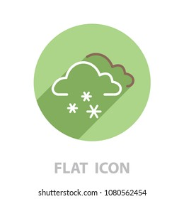 icon of snow. vector illustration