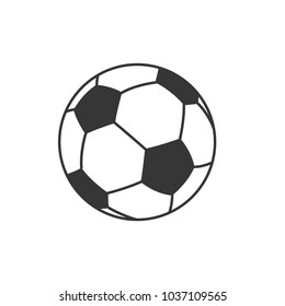 Icon of soccer ball.