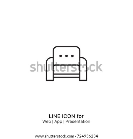 Icon Sofa Chair Graphic Design Single Stock Vector Royalty Free