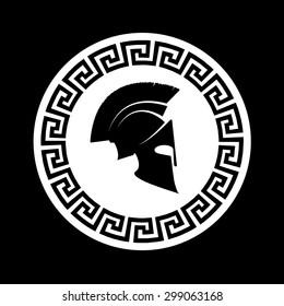 icon a Spartan helmet