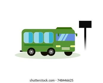 Icon station bus.Icon symbol isolated on white background. Vector illustration.