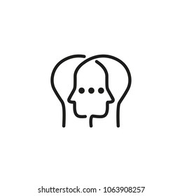 Icon of stealing personality. User, intelligence, clinic.  concept. Can be used for topics like partnership, duality, phycology