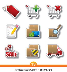 Icon sticker series 13 - internet shopping