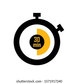 icon stopwatch timer minute vector