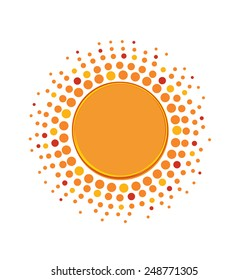 Icon of the sun with place of your own text
