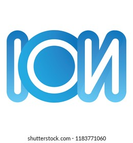 Icon symbol load ion word. Ideal for visual communication, informative and institutional material