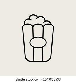 Icon Symbol Vector Outline Pop Corn