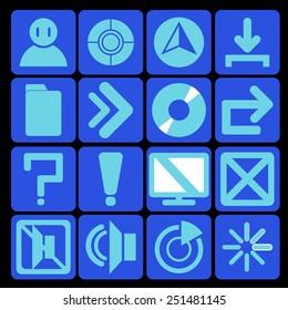 icon technology blue