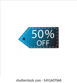 icon template hang tag vector for promotional discounts on clothing products