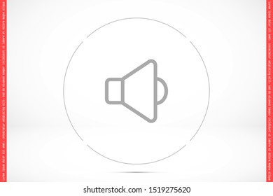 An icon that increases and reduces the Sound icon. Sound Icon Flat volume sign symbol icon. Sound vector music volume symbol. in trendy flat style Sound isolated on white background