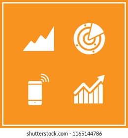 up icon. This set with bars graphic with ascendant arrow, radar, smartphone and ascending graphic vector icons for mobile and web