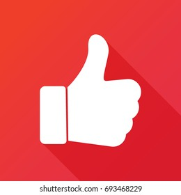 icon thumb up. Like symbol